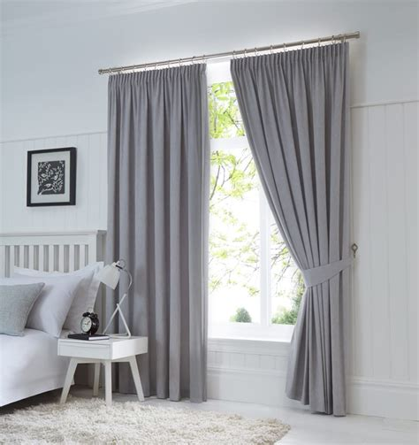 dijon ready  blackout pencil pleat curtains silver