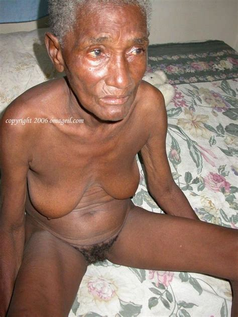 African old women naked