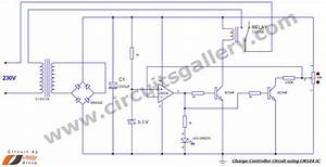 Simple Battery Charge Controller Circuit Using Lm324 Comparator Ic