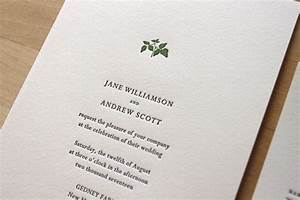letterpress wedding invitations letterpress wedding With po box wedding invitations