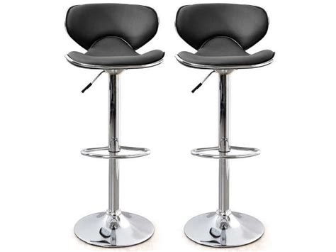 lot de 2 tabourets de bar arno coloris noir conforama