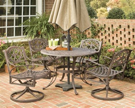 home styles biscayne 5 patio dining set with 48 inch