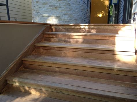 ipe deck stair risers  side skirt   ipe siding