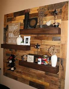 25 unique pallet wall art ideas on pinterest pallet for Kitchen cabinets lowes with large pallet wall art