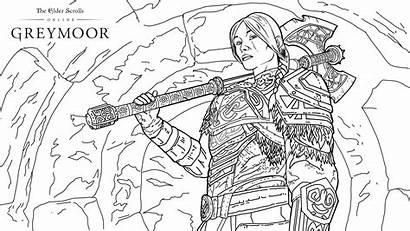Coloring Greymoor 4k Creative Eso Lyris Scrolls