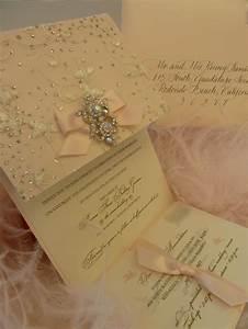 Quotsparklequot wedding invitation with elegant brooch xo for Elegant sparkly wedding invitations