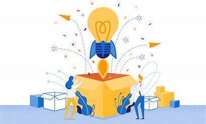 Idea Launch Vector Toy Cartoon Banner Patent