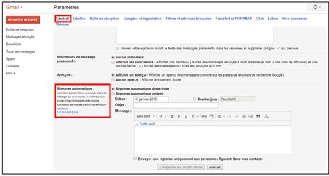 message d absence bureau cr 233 er un message automatique en cas d absence avec gmail je me forme au num 233 rique