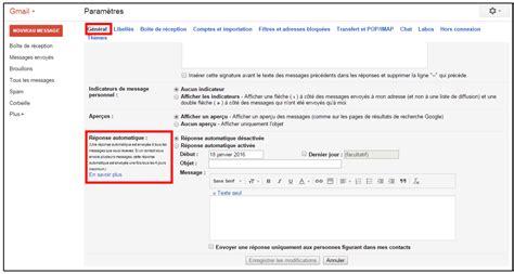cr 233 er un message automatique en cas d absence avec gmail