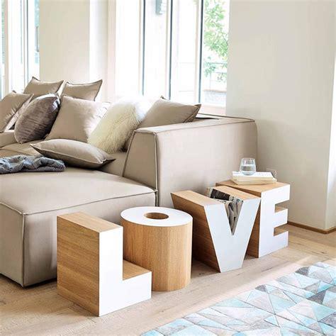 bout de canapé en bois blanc l 121 cm maisons du
