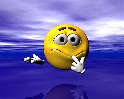 Face Funny Wallpapers Confused Smiley Smileys 3d