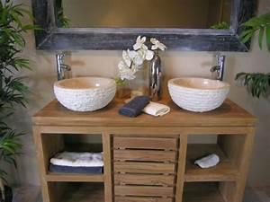 Meuble Salle De Bain Zen : d co salle de bain zen ~ Teatrodelosmanantiales.com Idées de Décoration