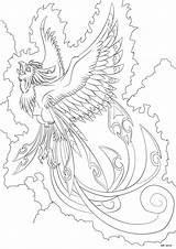 Phoenix Coloring Pages Shadow Shaded Deviantart Darkly Bird Colouring Realistic Dark Printable Adult Mandala Clipart Drawings Firebird Getcolorings Sheets Getdrawings sketch template