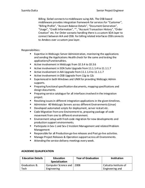 Weblogic And Soa Admin Resume by Susmita Resume