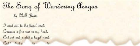 poem  song  wandering aengus  wb yeats