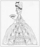 Marie Antoinette Coloring Colouring Deviantart Century 18th Pages Drawing Dress Adult Dolls Paper Costume Sketch Sheets Printable Bnspyrd Books Ships sketch template