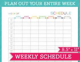 Microsoft Excel Weekly Schedule Template Free Printable Weekly Schedule Template Calendar Template 2016
