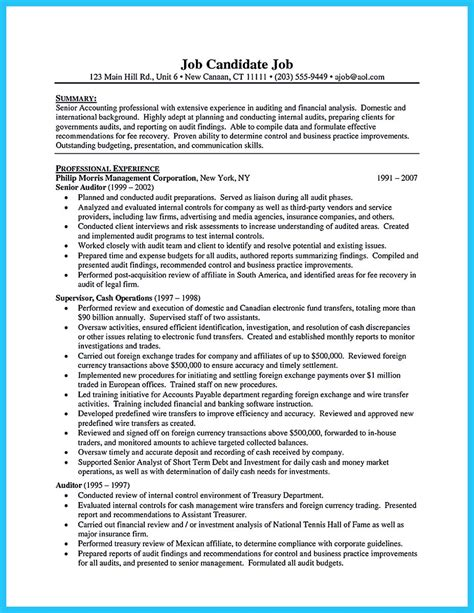 a concise credential audit resume