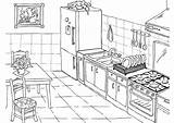 Kitchen Coloring Pages Clean Modern sketch template