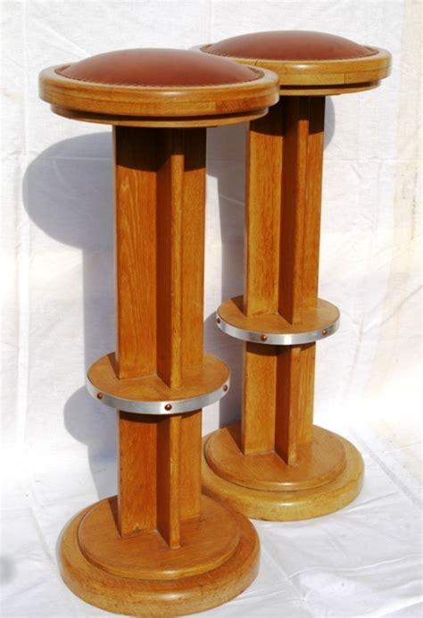 tabouret de bar en bois deco 1930 jpg chaises