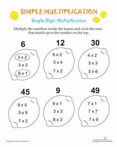 simple multiplication lemons  images