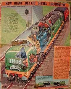 Eagle Deltic Cutaway  Old Eagle Comic Cutaway Of  As It Was To Be At That Time  D9007 Meld