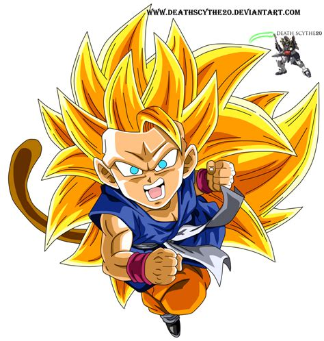 Kid Goku Ssj3 Dragon Ball Gt By Deathscythe20 On Deviantart