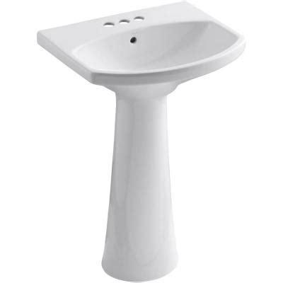 kohler cimarron pedestal sink kohler cimarron 4 in centerset vitreous china pedestal