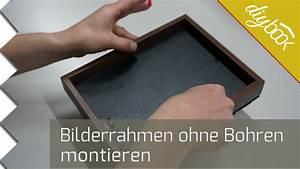 Bilder Ohne Nagel Aufhängen : bilderrahmen ohne bohren aufh ngen youtube ~ Indierocktalk.com Haus und Dekorationen