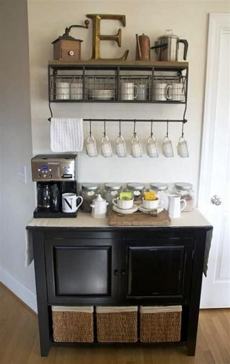 Creating your own beautiful furniture is easier than you think. DIY Coffee Bar Ideas You Can Make Easily