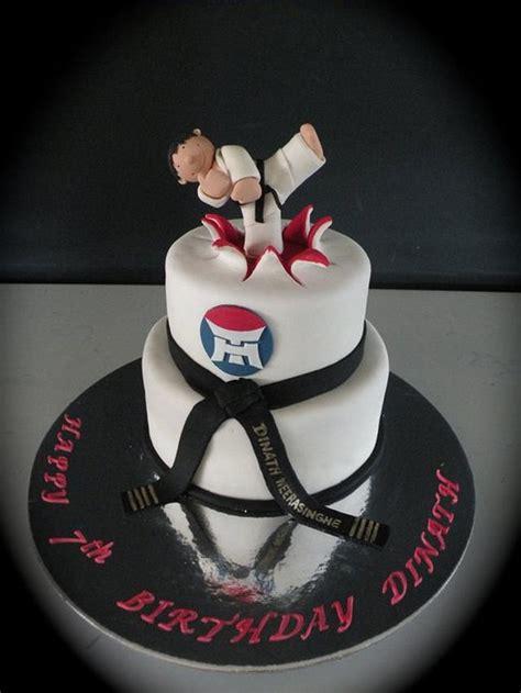 taekwondo themed cake cake  cake   ganga cakesdecor