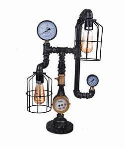 Lampe Industrial Style : neu lampe conduit aus eisen metall tischlampe leuchte industrial style ovp ebay ~ Markanthonyermac.com Haus und Dekorationen