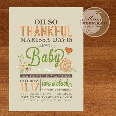 25+ Best Ideas About Thanksgiving Baby Showers On