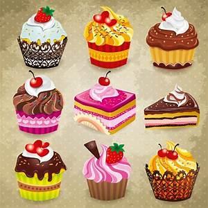 Iconos de pasteles en vector - recursos WEB & SEO
