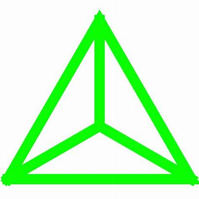 Triangle Mass Center Uniform Fractal Animated Lightning