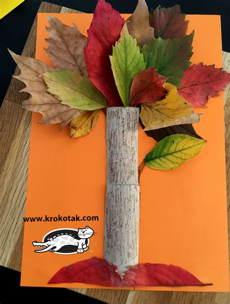 krokotak fall tree  toilet paper roll