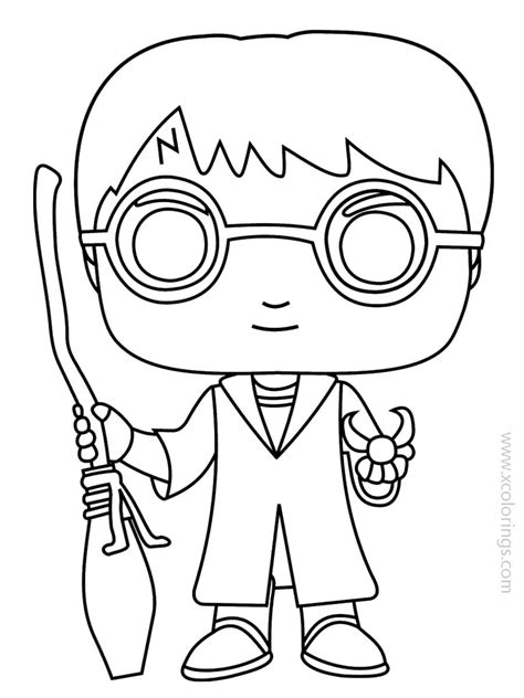 funko pop coloring pages harry potter xcoloringscom