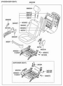 2007 Hyundai Santa Fe Power Seat Switch  Seatfrelect  Supt