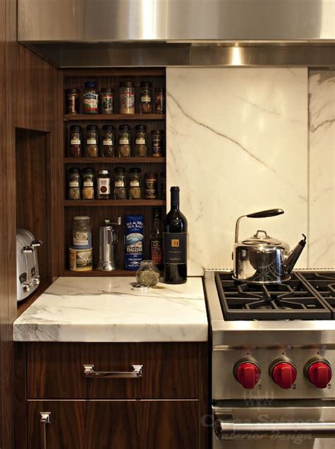 hidden spice cabinet contemporary kitchen corea sotropa interior