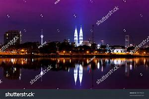 Night View Kuala Lumpur City Stunning Stock Photo 89979634 ...
