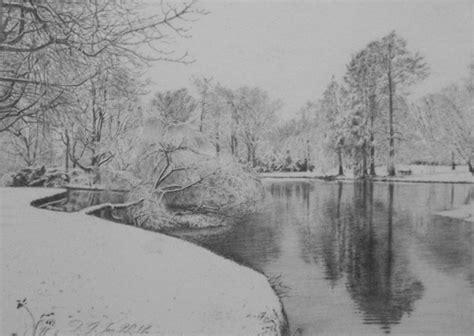 Winter Landscapes Drawings Images Work Pinterest