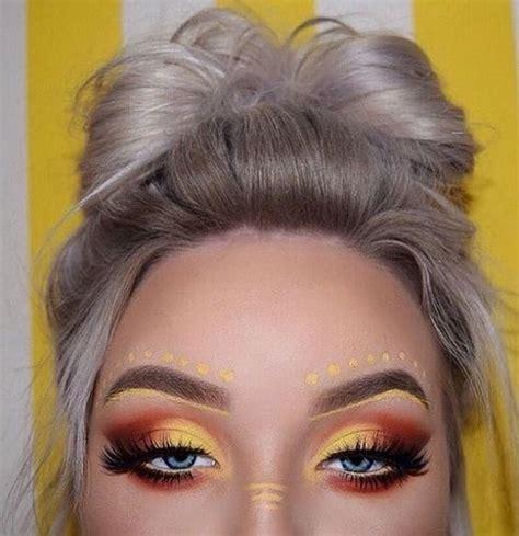 yellow eyeshadow   rock  sunny shade