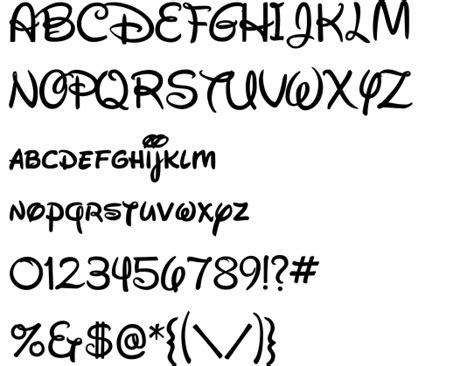 Free Downloadable Disney Font(waltograph)