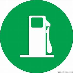 Vector green background gas station icon Free vector in Adobe Illustrator ai ( .ai ) vector ...