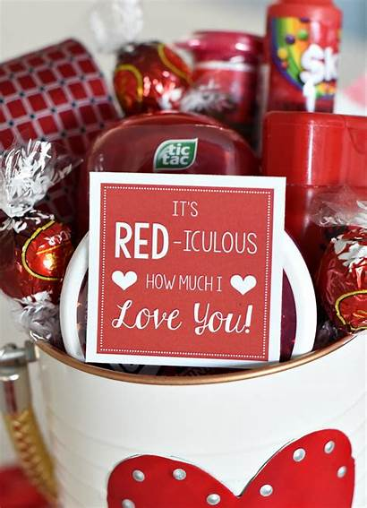 Gift Valentine Valentines Basket Cute Gifts Idea