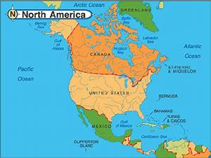 North America map – Detailed On-line map of North America