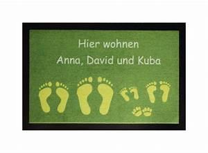 Fußmatte Mit Namen : die fu matte hier wohnt online kaufen ~ Frokenaadalensverden.com Haus und Dekorationen