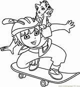Coloring Skateboard Skateboarding Diego Go Marquez Template Play Cartoon sketch template