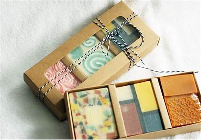 Soap Handmade Box Soaps Packaging Gifts Face