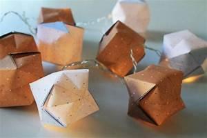 Ideen Mit Lichterketten : bastelanleitungen origami lichterkette basteln einfach selbstgemacht ~ Markanthonyermac.com Haus und Dekorationen